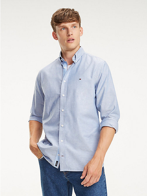 TOMMY HILFIGER Essential Pure Cotton Regular Fit Shirt - BLUE QUARTZ - TOMMY HILFIGER Casual Shirts - detail image 1