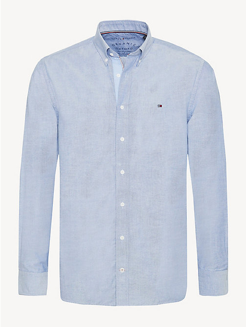 TOMMY HILFIGER Essential Pure Cotton Regular Fit Shirt - BLUE QUARTZ - TOMMY HILFIGER Casual Shirts - main image