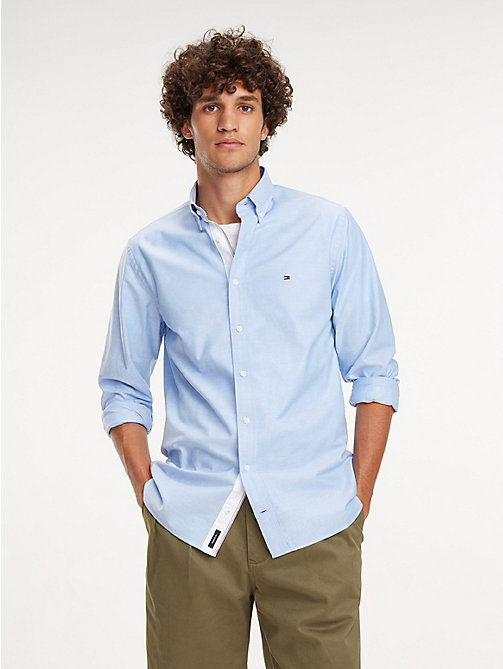 TOMMY HILFIGER Essential Pure Cotton Regular Fit Shirt - SHIRT BLUE - TOMMY HILFIGER Casual Shirts - detail image 1
