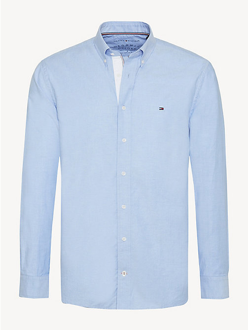 TOMMY HILFIGER Essential Pure Cotton Regular Fit Shirt - SHIRT BLUE - TOMMY HILFIGER Casual Shirts - main image
