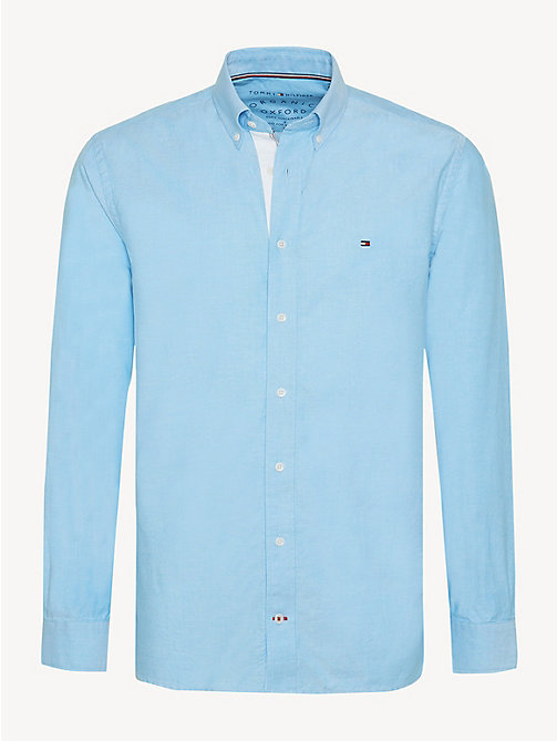 TOMMY HILFIGER Essential Pure Cotton Regular Fit Shirt - VIVID BLUE - TOMMY HILFIGER Casual Shirts - main image