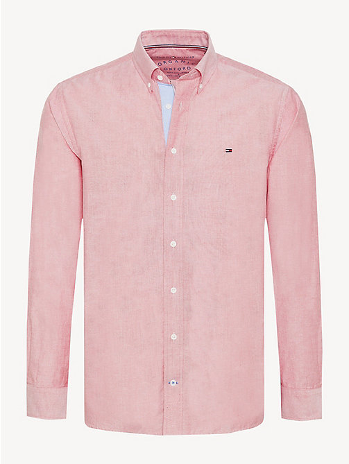 TOMMY HILFIGER Essential Pure Cotton Regular Fit Shirt - HAUTE RED - TOMMY HILFIGER Casual Shirts - main image