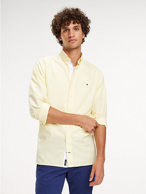 TOMMY HILFIGER Essential Pure Cotton Regular Fit Shirt - LEMON ZEST - TOMMY HILFIGER Casual Shirts - detail image 1
