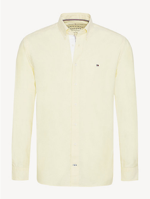 TOMMY HILFIGER Essential Pure Cotton Regular Fit Shirt - LEMON ZEST - TOMMY HILFIGER Casual Shirts - main image