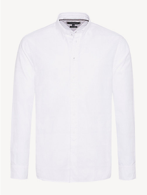 TOMMY HILFIGER Pure Cotton Dobby Shirt - BRIGHT WHITE - TOMMY HILFIGER Casual Shirts - main image