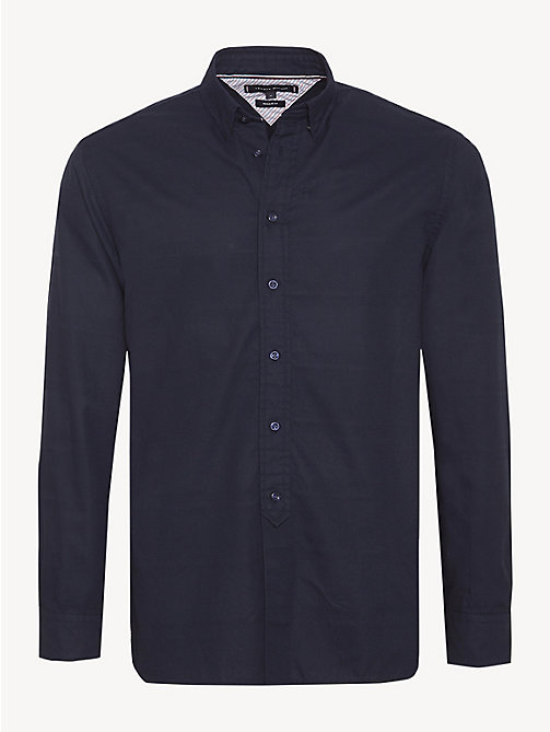 TOMMY HILFIGER Pure Cotton Dobby Shirt - SKY CAPTAIN - TOMMY HILFIGER Casual Shirts - main image