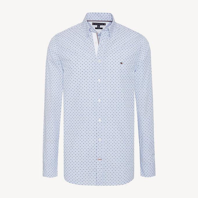 44c5b845346 Micro Print Slim Fit Shirt   REGATTA / MULTI   Tommy Hilfiger