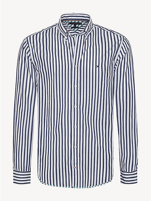 bdf020047c875 TOMMY HILFIGERAll-Over Stripe Cotton Dobby Shirt