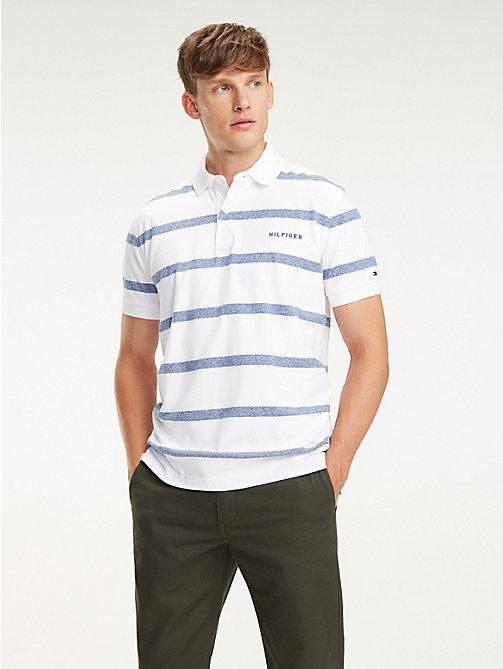 e24765eb5e236c TOMMY HILFIGERPure Cotton Horizontal Stripe Polo. €79.90. BRIGHT WHITE    BLUE QUARTZ. x