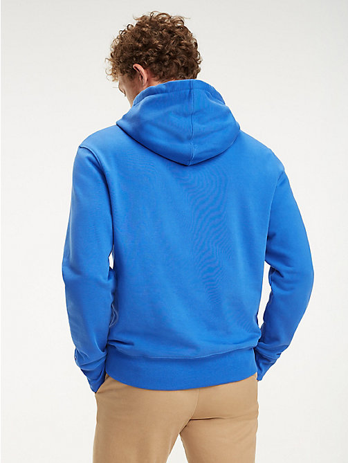 TOMMY HILFIGER Logo-Hoodie aus Baumwolle - ICON BLUE - TOMMY HILFIGER NEW IN - main image 1