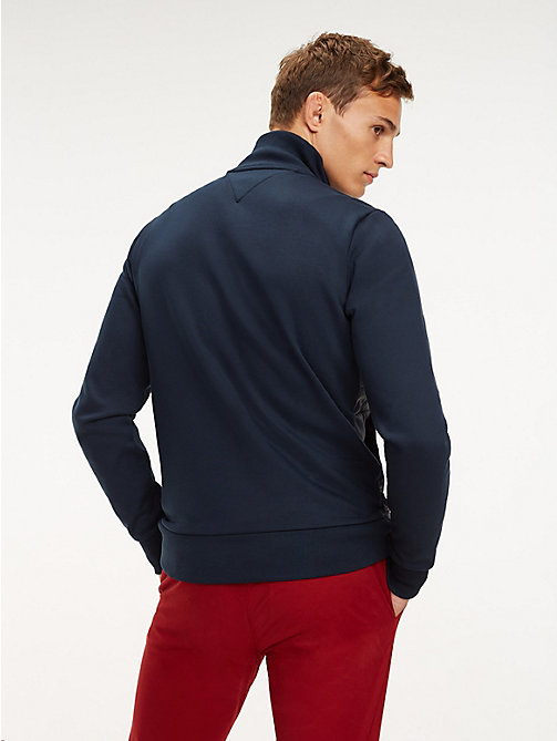 TOMMY HILFIGER Zip-Thru Quilted Jacket - SKY CAPTAIN - TOMMY HILFIGER Sweatshirts - detail image 1