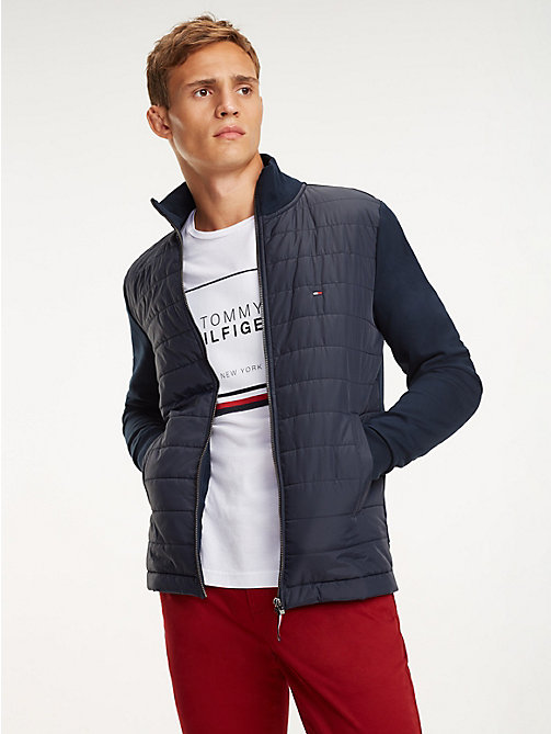 TOMMY HILFIGER Zip-Thru Quilted Jacket - SKY CAPTAIN - TOMMY HILFIGER Sweatshirts - main image