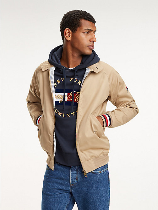TOMMY HILFIGER Signature Tape Harrington Jacket - DARK DUNE - TOMMY HILFIGER NEW IN - main image