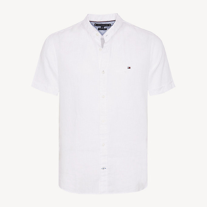 ea6decad4fe72a Linen Short Sleeve Shirt. TOMMY HILFIGER