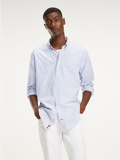 TOMMY HILFIGER Gestreiftes Button-down-Hemd - SHIRT BLUE / BRIGHT WHITE - TOMMY HILFIGER Freizeithemden - main image 1