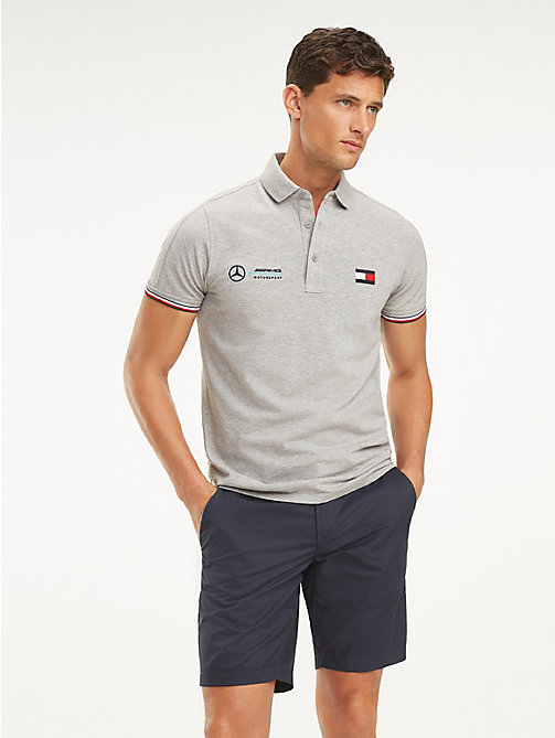 dfbccea905f grey mercedes-benz cotton polo for men tommy hilfiger