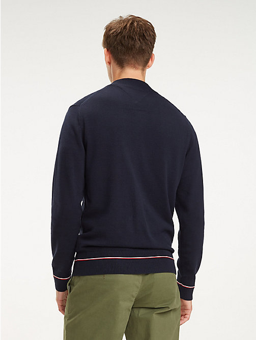 TOMMY HILFIGER Abstract Flag Zip Jumper - SKY CAPTAIN - TOMMY HILFIGER Jumpers - detail image 1