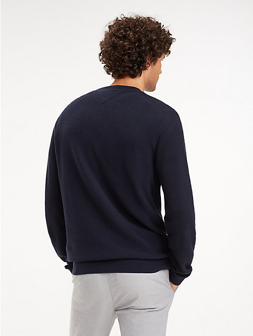 TOMMY HILFIGER Knit Crew Neck Jumper - SKY CAPTAIN - TOMMY HILFIGER Jumpers - detail image 1