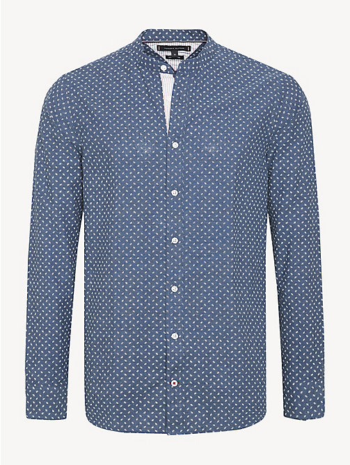TOMMY HILFIGER Micro Print Shirt - PEACOAT / BRIGHT WHITE - TOMMY HILFIGER Casual Shirts - main image