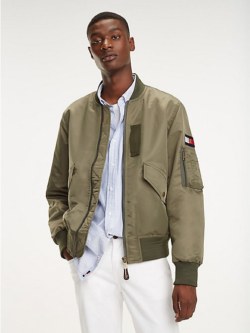 TOMMY HILFIGER Bomberjacke mit Flag - LIGHT DEEP DEPTHS - TOMMY HILFIGER Bomberjacken - main image