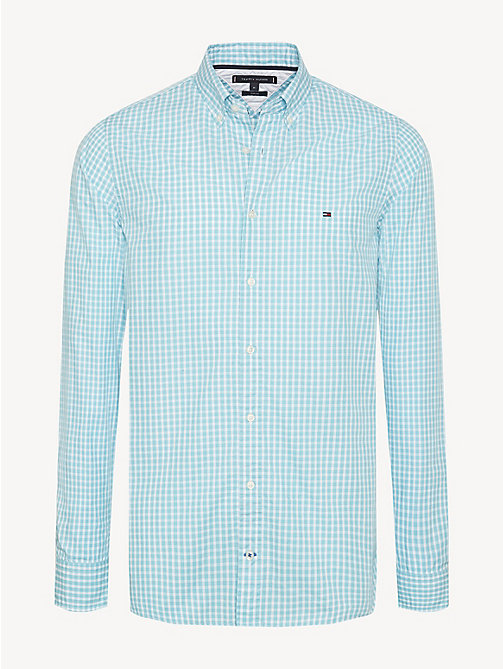 TOMMY HILFIGER Check Slim Fit Shirt - AQUARELLE / BRIGHT WHITE - TOMMY HILFIGER Casual Shirts - main image