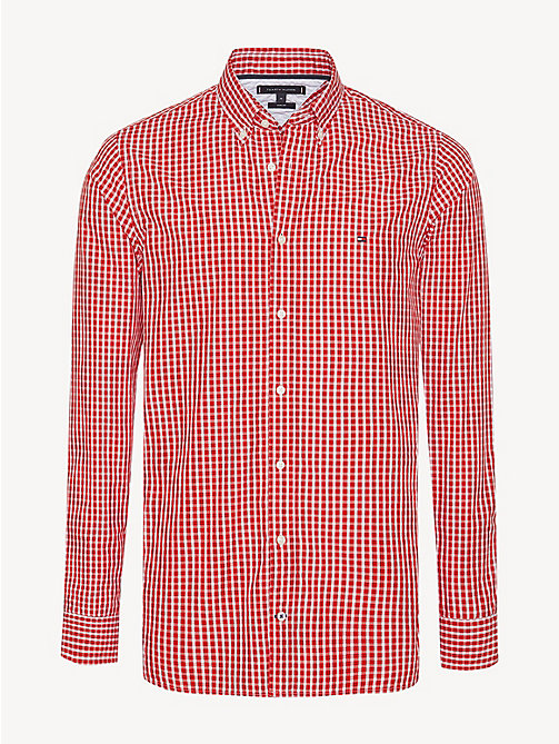 TOMMY HILFIGER Check Slim Fit Shirt - HAUTE RED / BRIGHT WHITE - TOMMY HILFIGER Casual Shirts - main image