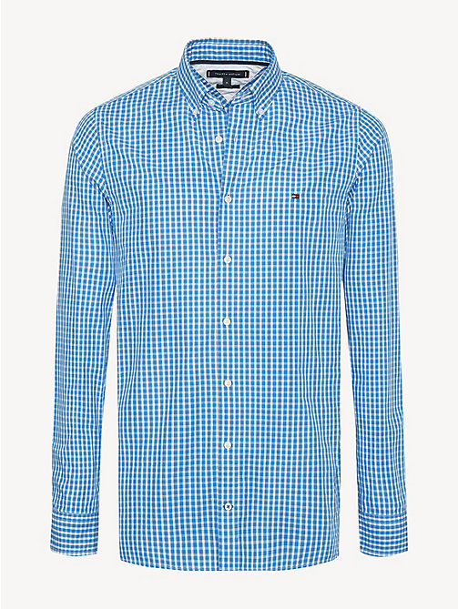 TOMMY HILFIGER Check Slim Fit Shirt - REGATTA / BRIGHT WHITE - TOMMY HILFIGER Casual Shirts - main image