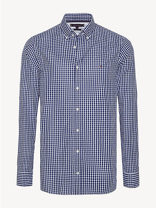 TOMMY HILFIGER Check Slim Fit Shirt - MEDIEVAL BLUE / BRIGHT WHITE - TOMMY HILFIGER Casual Shirts - main image