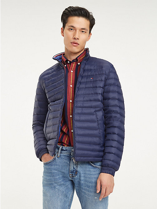3c23491b blue packable down-filled jacket for men tommy hilfiger