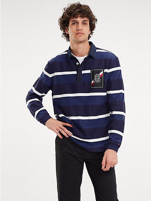 25e213d89 multi multicolour stripe rugby shirt for men tommy hilfiger