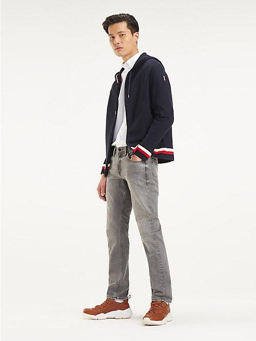 dcb3fbbc5ec9ea blue reißverschluss-hoodie aus reiner baumwolle für herren - tommy hilfiger