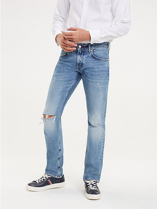 359dea6ca79 TOMMY HILFIGERDenton Distressed Straight Fit Jeans