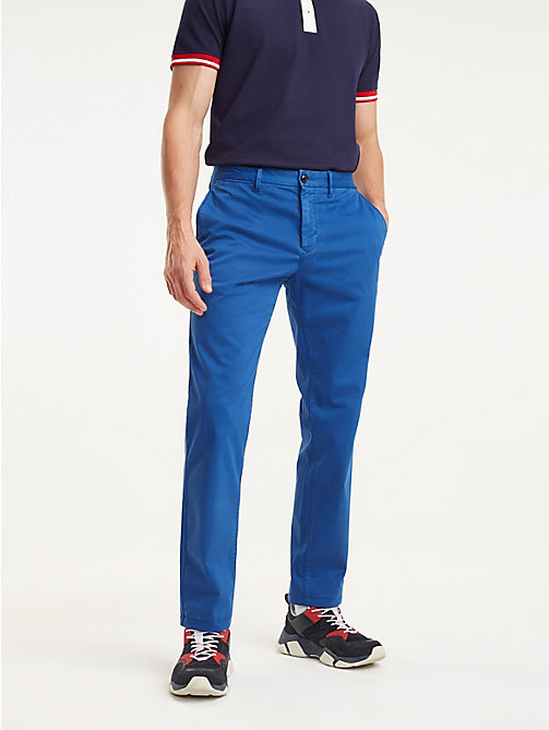 6a8adf03e8c7ef blue denton garment dyed straight fit chinos for men tommy hilfiger