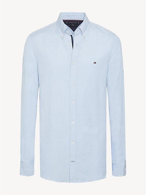 Linnen Overhemd Wit Heren.Herenoverhemden Tommy Hilfiger Nl