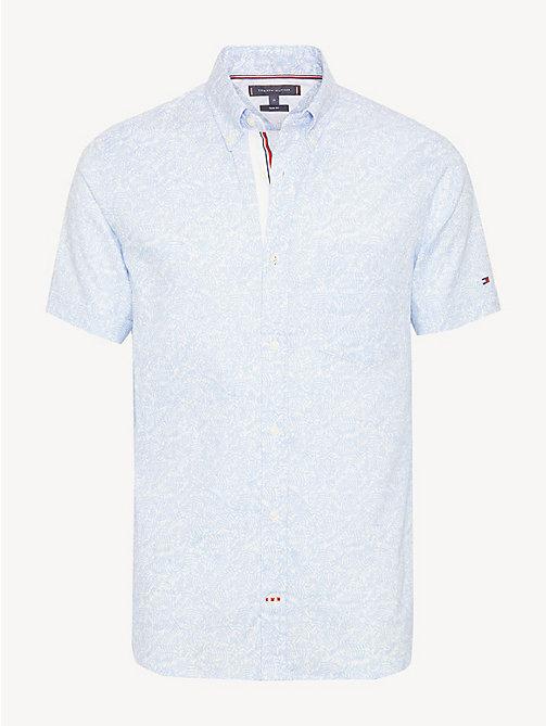 939391c2208 TOMMY HILFIGERBotanical Print Short Sleeve Shirt
