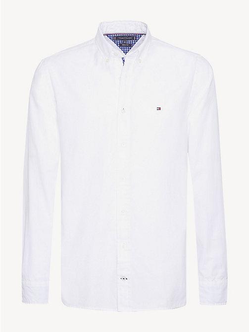 5c9f52705fa38c white oxford-hemd mit kontrastdetails für herren - tommy hilfiger