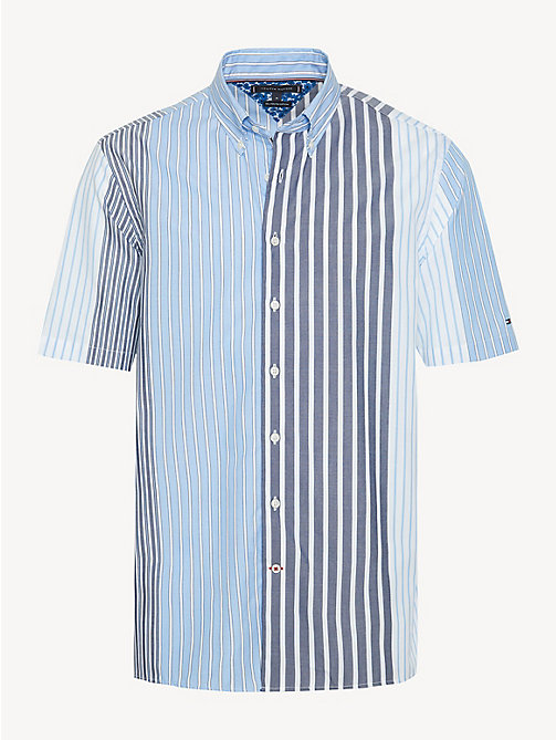 ace066a4 TOMMY HILFIGERRelaxed Fit Short Sleeve Mixed Stripe Shirt