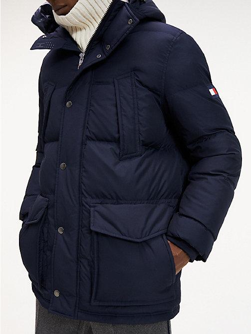 Détails sur Tommy Hilfiger Hommes Four Pocket Utilitaire Manteau Bleu XL