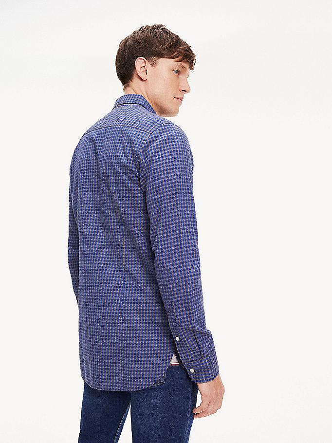 Slim fit overhemd met ginghamruit | BLUE | Tommy Hilfiger