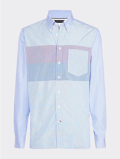 ecab55f2ed camisa con estampado de rayas blue de hombre tommy hilfiger