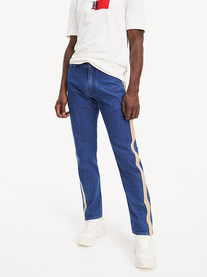 denim lewis hamilton regular fit jeans voor heren - tommy hilfiger