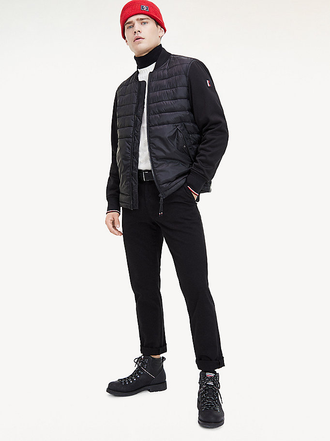 black th flex down bomber jacket for men tommy hilfiger