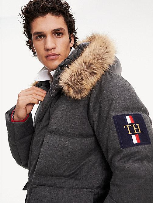 tommy hilfiger down coat european bordeaux