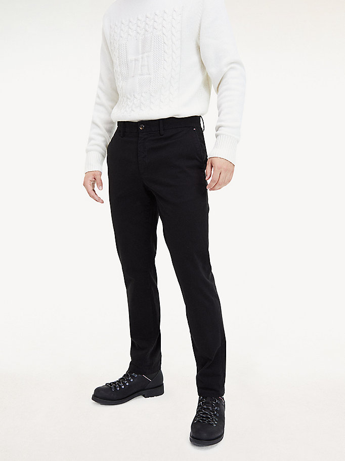 chino denton th flex noir pour men tommy hilfiger
