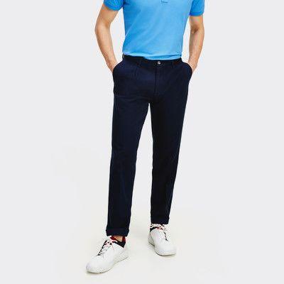 Uomo Pantaloni Chino Stile-Stone//Beige Smart Pantaloni in Vita a Pieghe