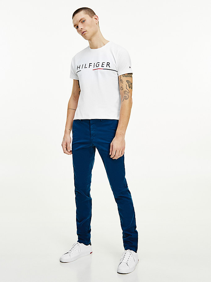 blau th flex bleecker chinos für herren - tommy hilfiger
