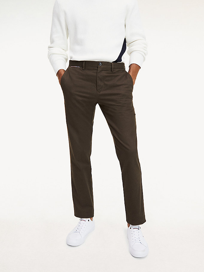 green denton straight fit chinos for men tommy hilfiger