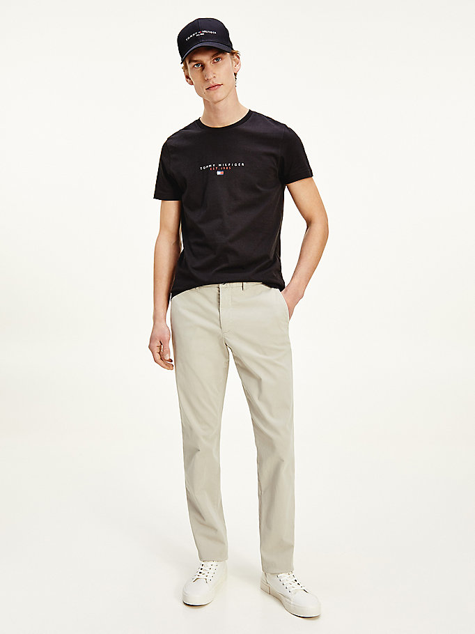 beige denton th flex organic cotton chinos for men tommy hilfiger