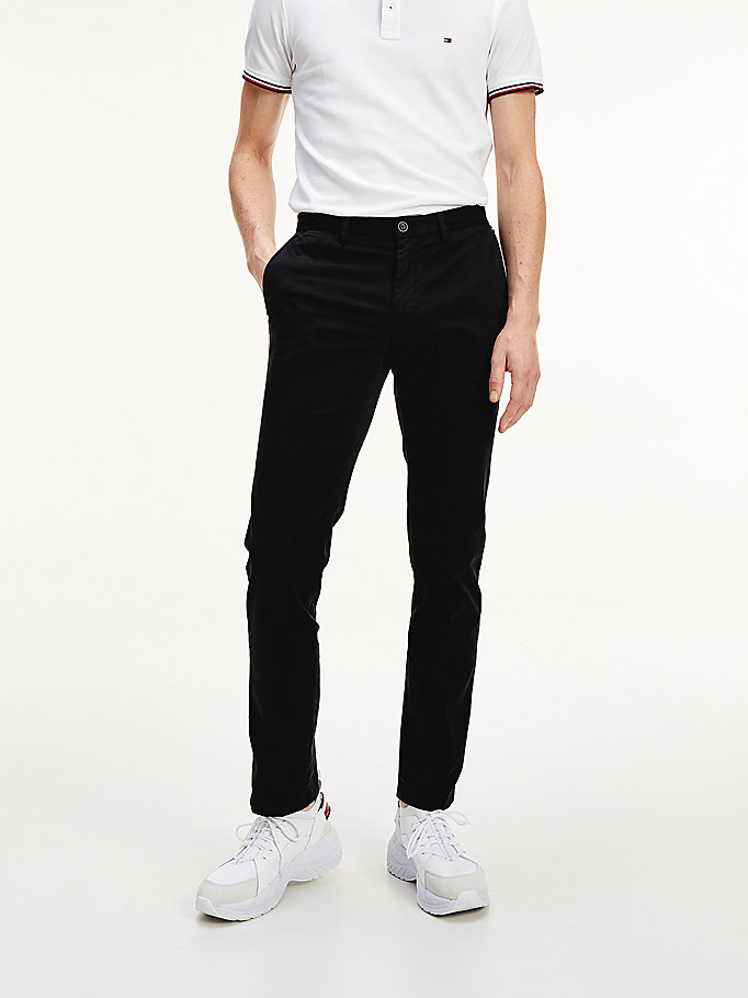 black denton th flex organic cotton chinos for men tommy hilfiger