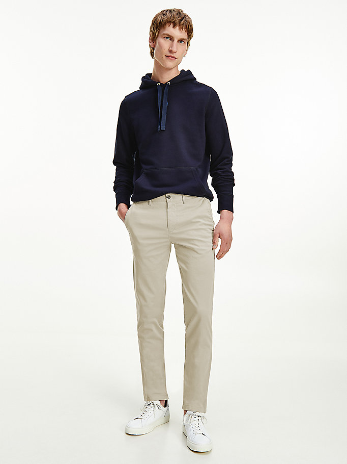 chino slim bleecker th flex beige pour men tommy hilfiger
